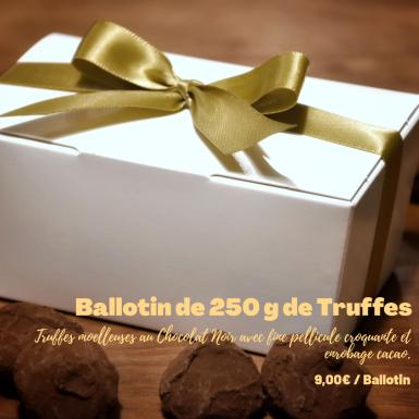 Ballotin de Truffes au Chocolat - Invitation au délice