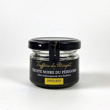 Truffes noires du Périgord brisures 1ère ébullition 20g - La truffière des Mérigots