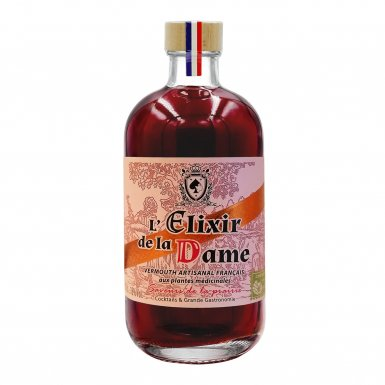 L'Elixir de la Dame – vermouth artisanal demi-doux de printemps : la prairie - Maison Dâme & Djin Spirits