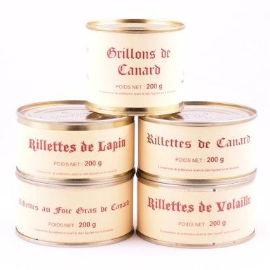 Offre découverte - lot de 5 boîtes de rillettes - Fermette des Planchettes