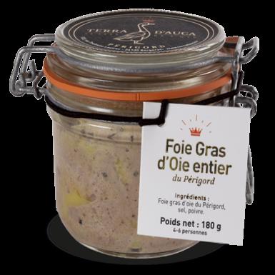 Foie gras d'oie entier du Périgord 180g - Terra d'Auca