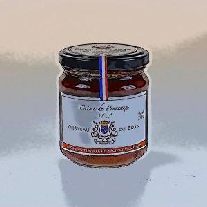 Crème de pruneaux d'Agen mi-cuits du Château Born au chocolat noir