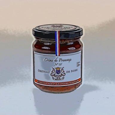 Crème de pruneaux au chocolat noir  - Château de Born