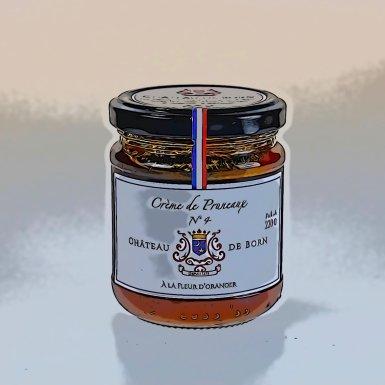 Crème de pruneaux mi-cuits à la Fleur d'Oranger - Château de Born