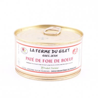 Paté de foie de boeuf - Ferme du Gilet - GAEC Jean