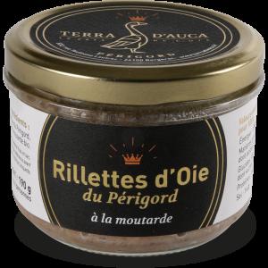 Rillettes d'oie du Périgord moutarde 190g