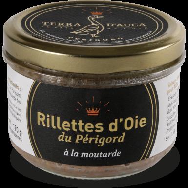 Rillettes d'oie du Périgord moutarde 190g - Terra d'Auca