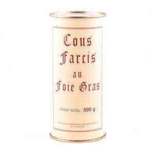 Boîte de cous farcis au foie gras de canard
