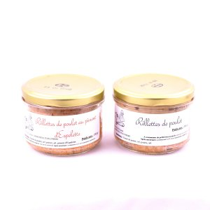 Lot de 2 rillettes de poulet