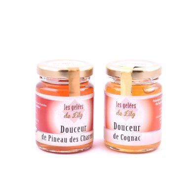 Douceur de pineau rouge et douceur de cognac (100 ml) - Les Gelées de Lily