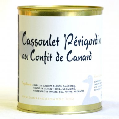 Cassoulet Périgordin au confit de canard - Domaine de Barbe