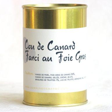 Cou de canard farci au foie gras - Domaine de Barbe