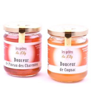 Douceur de pineau rouge et douceur de cognac (200 ml) - Les Gelées de Lily