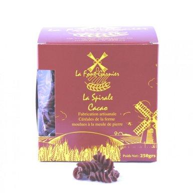 """Pâtes artisanales """"spirale"""" au cacao - La Font-Garnier"""
