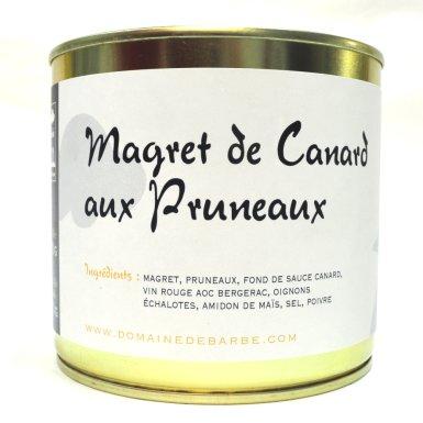 Magret de canard aux pruneaux - Domaine de Barbe