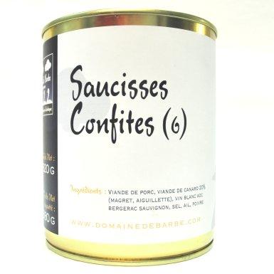 Saucisses confites - Domaine de Barbe