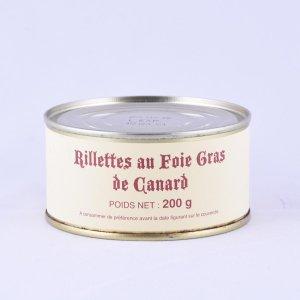 Rillettes au foie gras de canard (lot de 6)