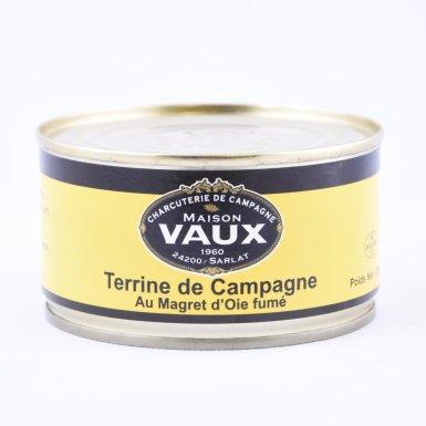 Terrine de campagne au magret d'oie fumé - Maison Vaux