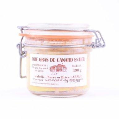 Foie gras entier 190g (bocal en verre) - Ferme Labrue